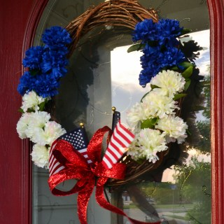 The easiest patriotic wreath you can make