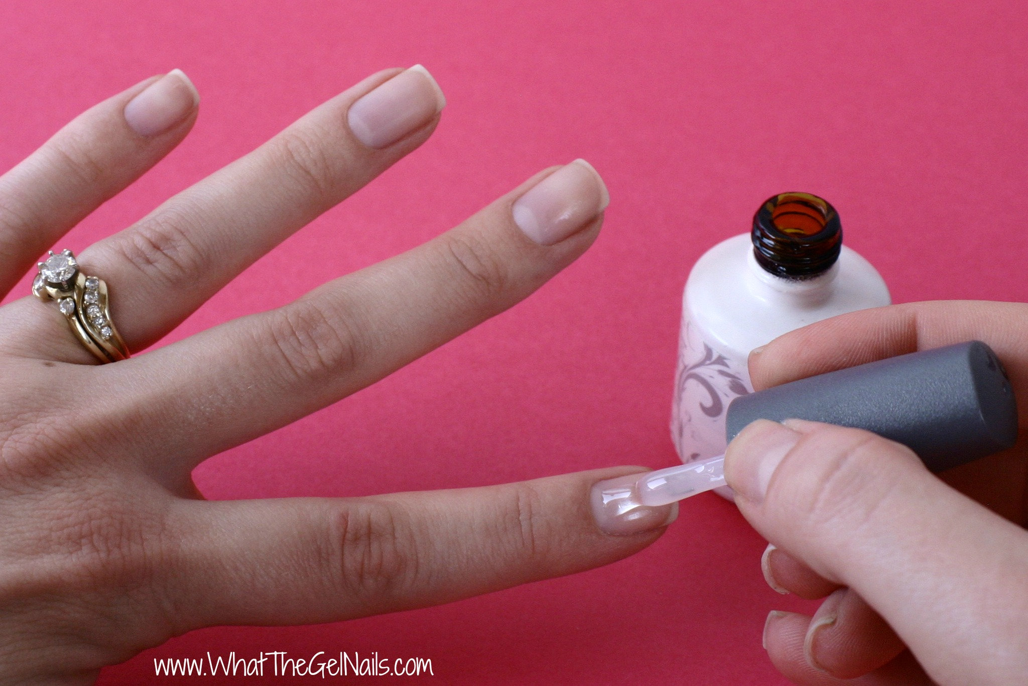 How To Do Gel Nails At Home Paint On Base Coat And Cure In Uv