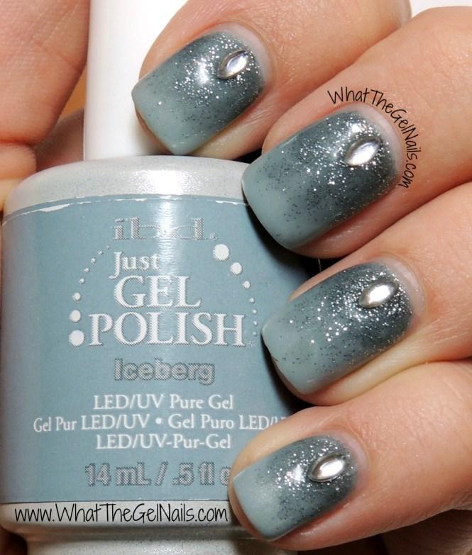 Autumn Glitter Gel Manicure