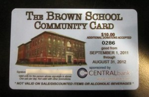 Brown School Community Card - Lots of Davis Square discounts.