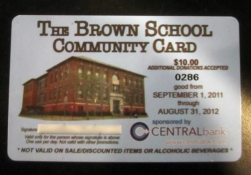 Brown School Community Card - Lots of Davis Square discounts.