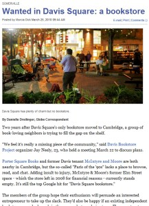 Boston Globe Davis Bookstore Article
