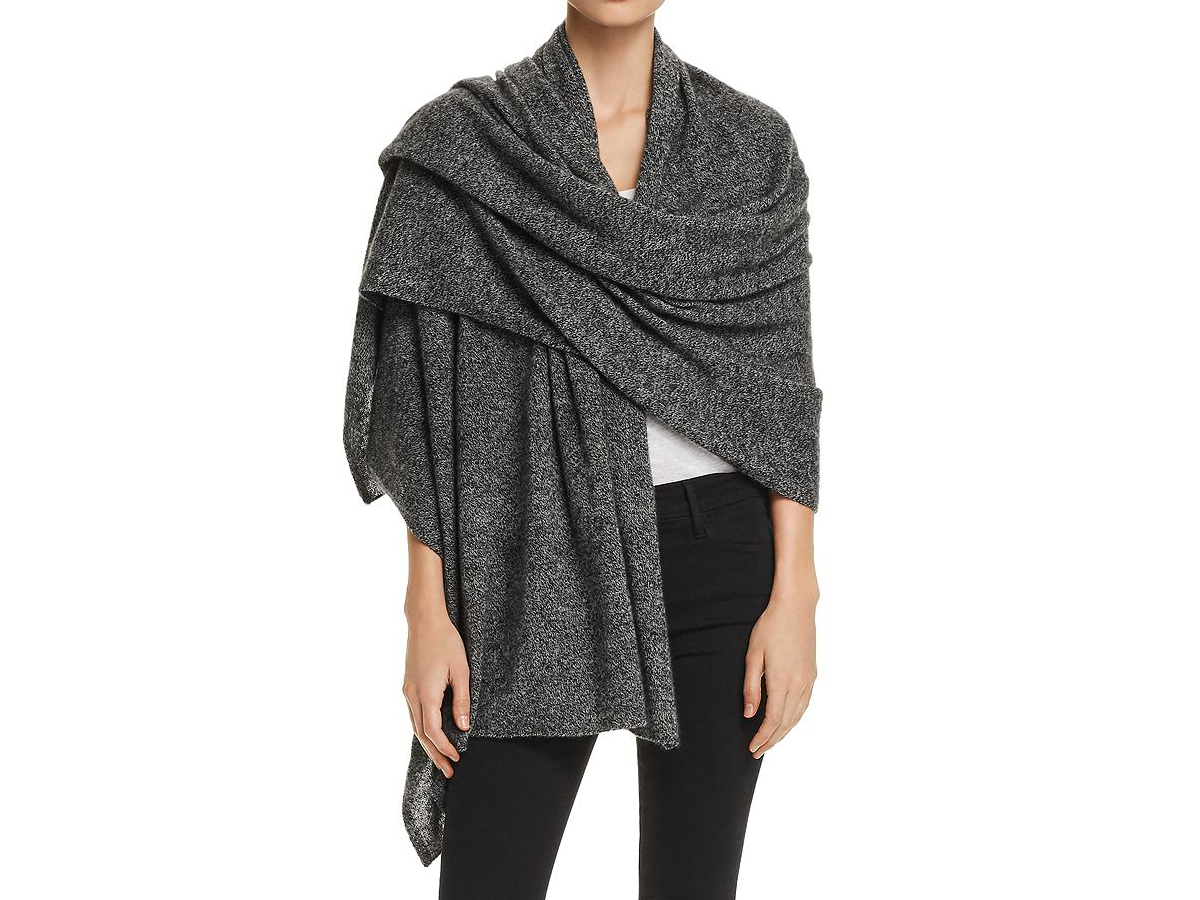 C by Bloomingdale's Marled Cashmere Travel Wrap