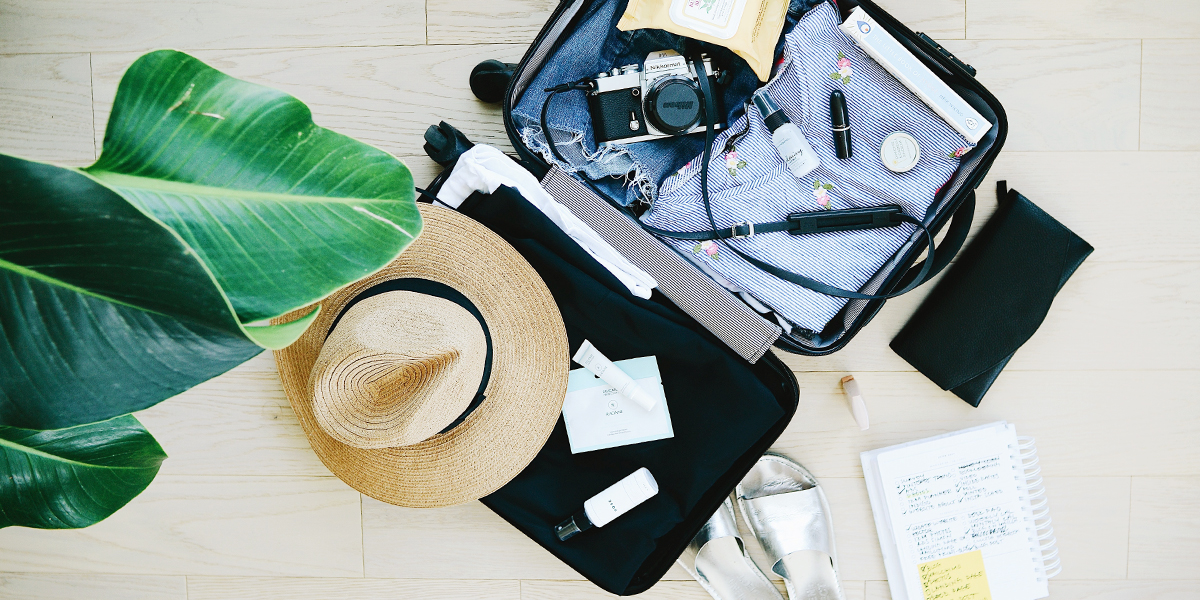 101 Best Packing Tips - Flay Lay Suitcase Open