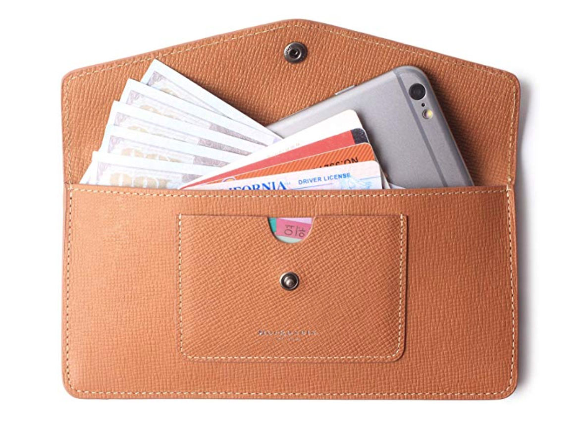Women's Wallets Leather RFID Credit Card Holder Thin Envelope Purse Bifold Ladies Cluth for Women