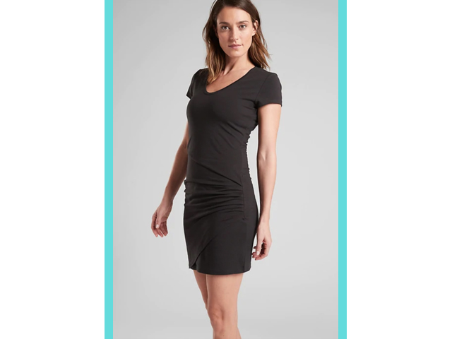 Athleta Black Central Dress