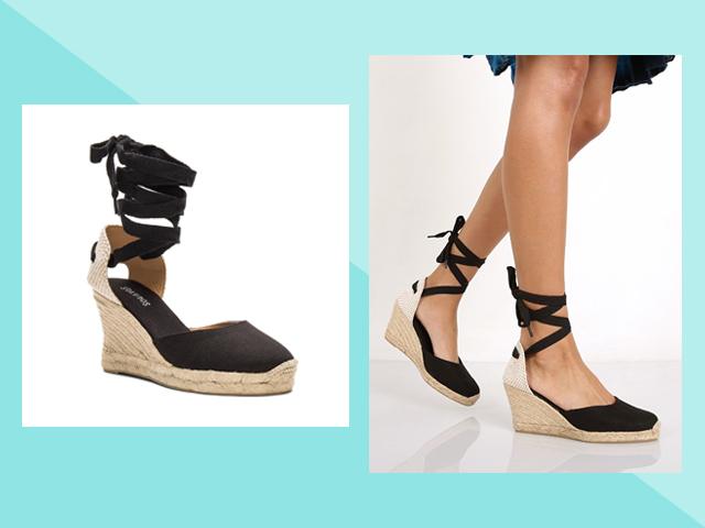 Travel Heels Revolve Black Tall Wedge Soludos Soludos