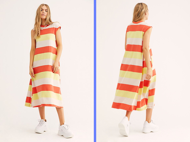 free people striped Luella Maxi Dress