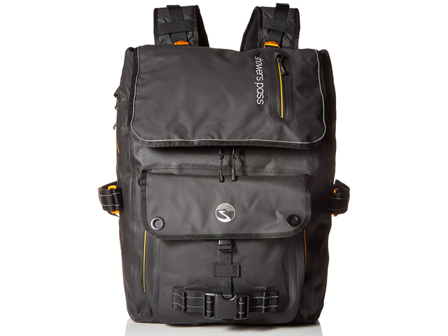 Showers Pass Transit Waterproof Backpack, One Size, Black/Lime