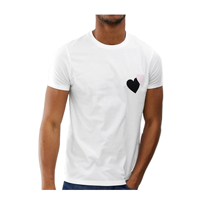 ASOS DESIGN t-shirt with heart chest print