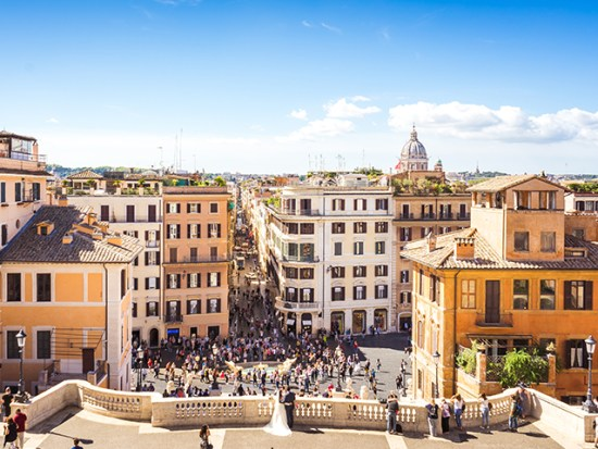 The Spanish Steps in Rome, Italy