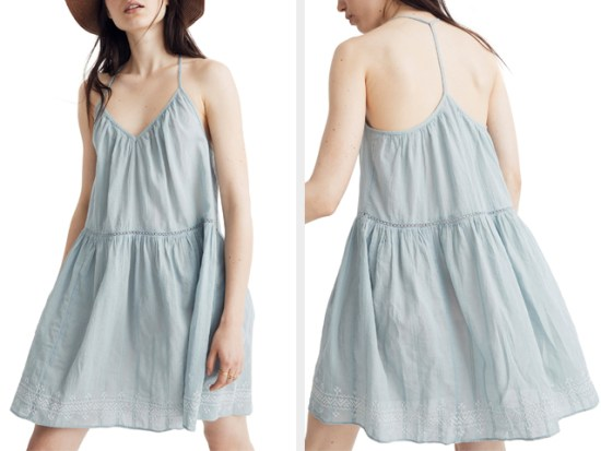 Embroidered Racerback Cover-Up Dress MADEWELL