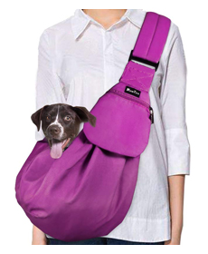 SlowTon Pet Carrier, Hand Free Sling Adjustable Padded Strap Tote Bag.