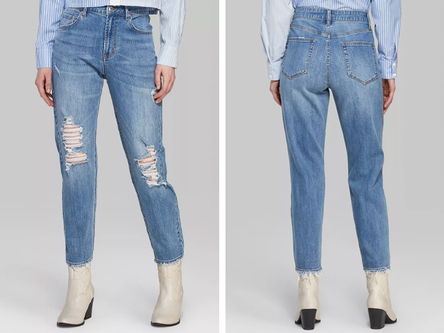 Target Women's High-Rise Mom Jeans - Wild Fable™ Medium Blue Wash.