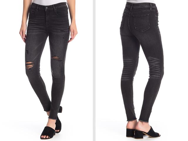 Vigoss Ace High Rise Distressed Skinny Jeans.