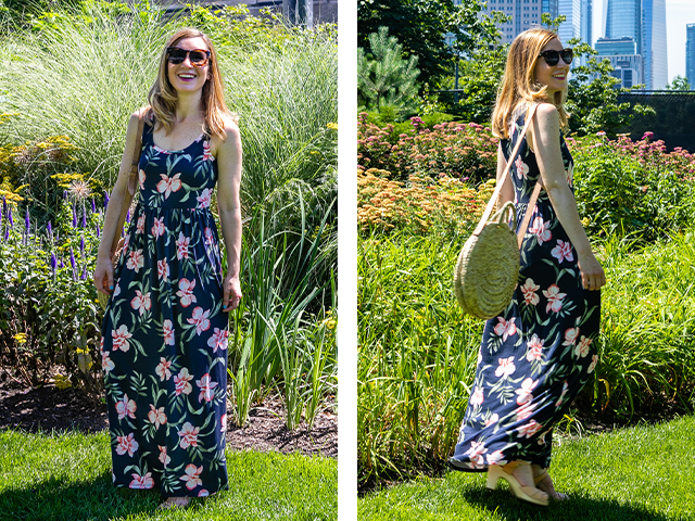 Anne Wearing Amazon Essentials Maxi Dress.