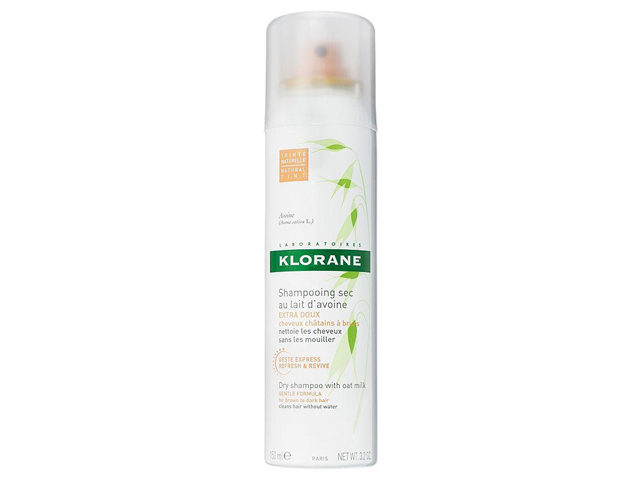 KLORANE Dry Shampoo with Oat Milk for Brown to Dark Hair.