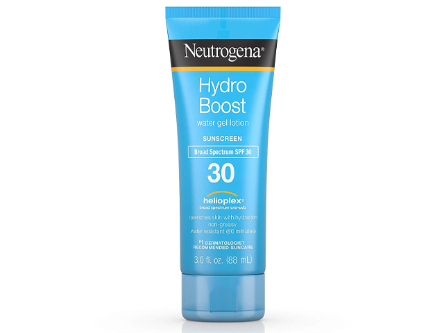 Neutrogena Hydro Boost Water Gel Non-Greasy Moisturizing Sunscreen.