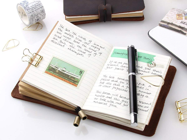 Refillable Handmade Traveler's Notebook.