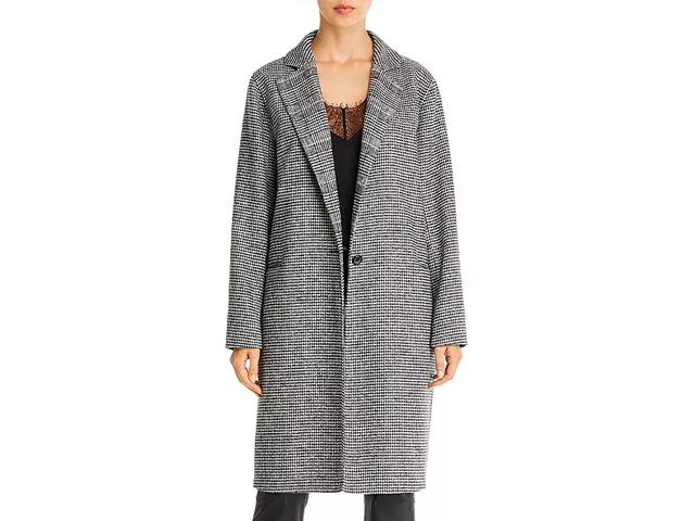 7 For All Mankind Mixed Pattern Long Coat.