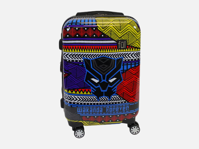 "FUL 21"" Black Panther Hardside Suitcase - Tribal Art."