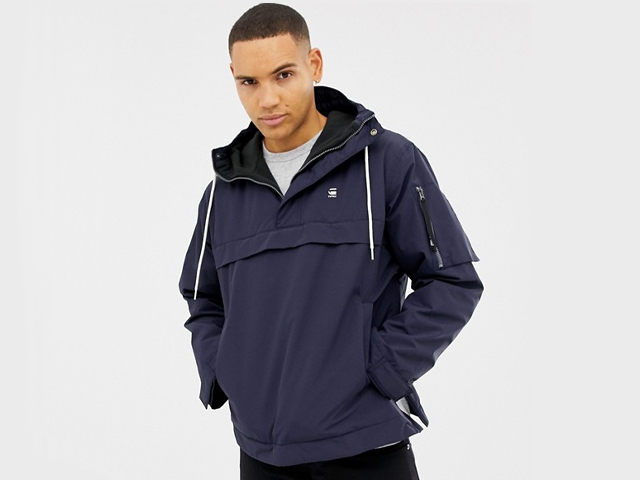 G-Star Rackam hooded anorak jacket in blue.