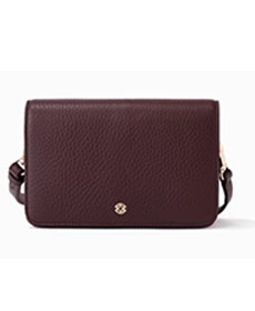 Dagne Dover Andra Crossbody Bag in Oxblood Leather