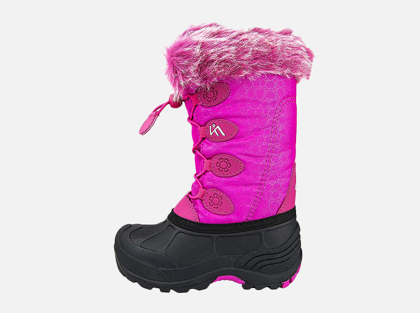 ✨KIDS GIRLS CHILDREN WARM WINTER ANKLE FUR LINED GRIP SOLE BOW SNOW BOOTS SHOES✨