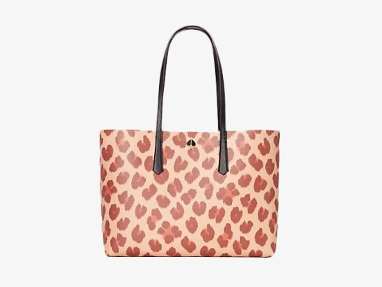 molly leopard large tote.