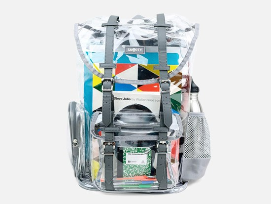 SMARTY Heavy Duty Clear Backpack.