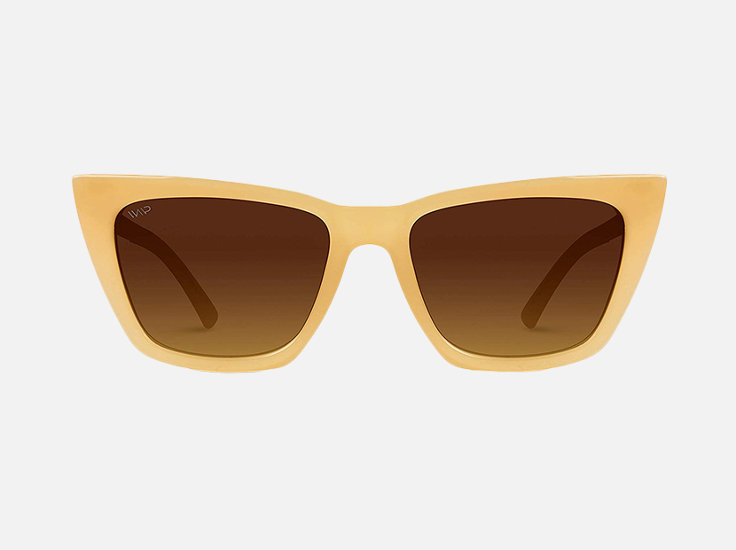 WearMe Pro EXCLUSIVE - Flat Lens Polarized Modern Tip Pointed Women Cat Eye Sunglasses.