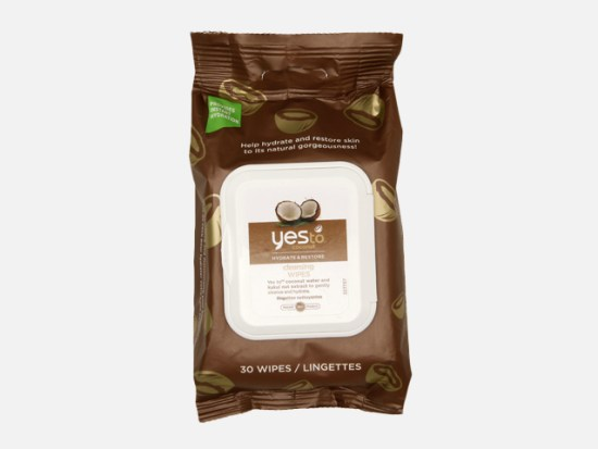 Yes to Coconut Cleansing Wipes.