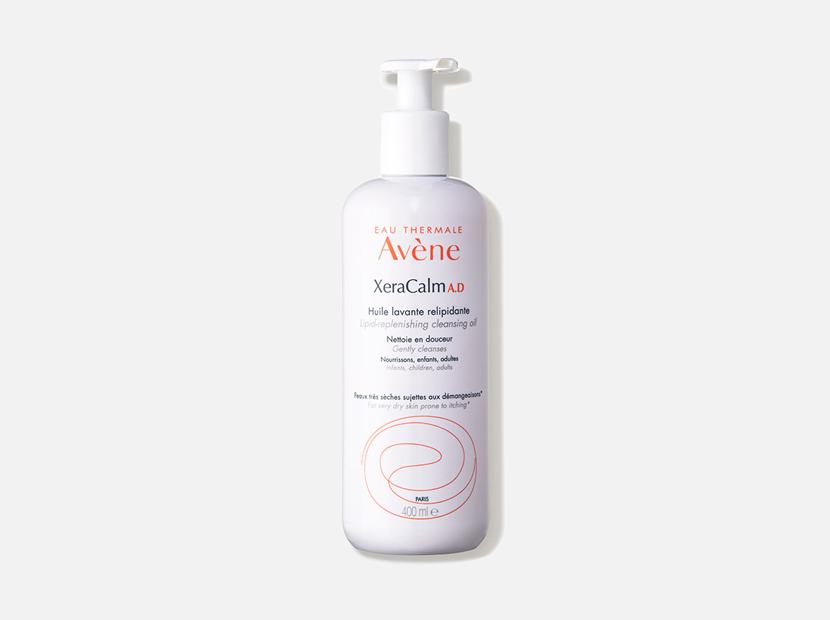 Avène XeraCalm A.D Lipid-Replenishing Cleansing Oil.