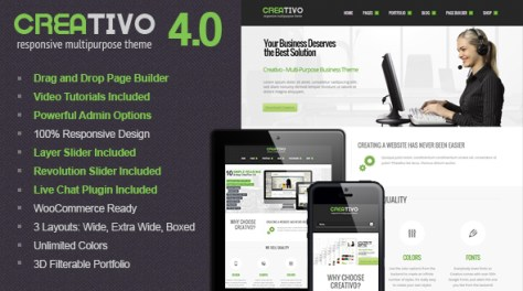 Wordpress Responsive theme creativo