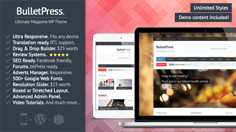 Bulletpress WordPress Theme
