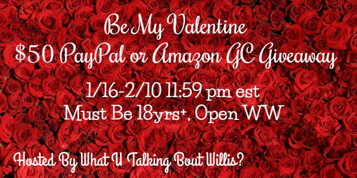 be my valentine 50 giveaway