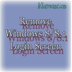 Remove Windows8 login screen