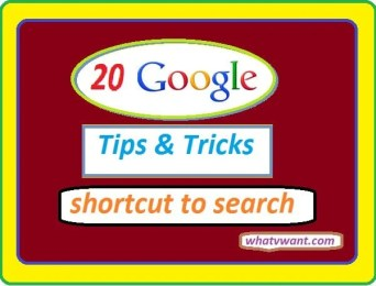 20 google tips and tricks