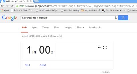 set timer for 1 minute