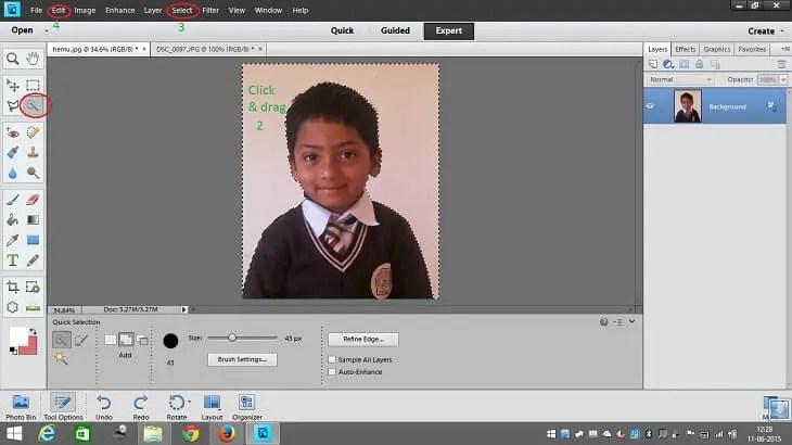 Edit background of image