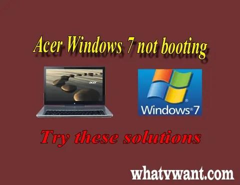 Acer laptop wont boot