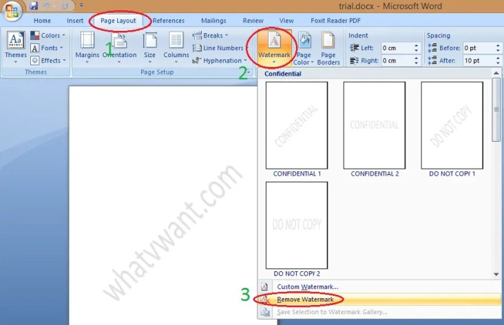 How to remove watermark in word