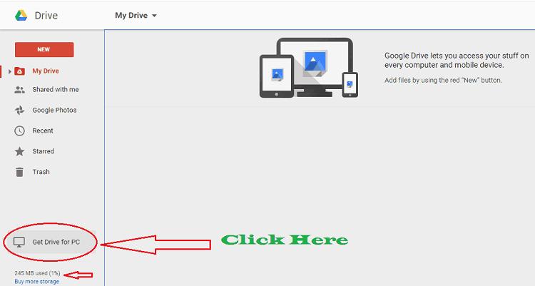 backup with google drive