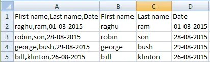 excel split first and last name