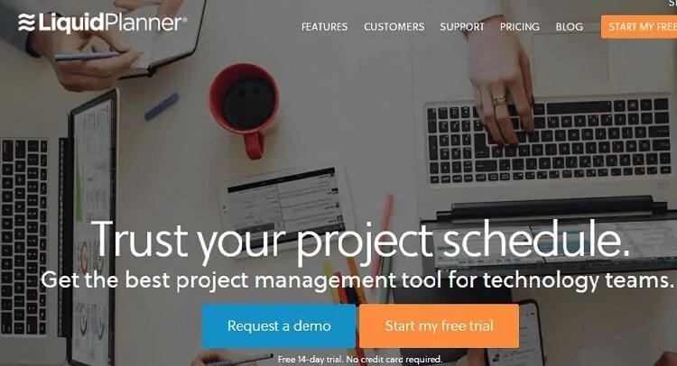 project management tools LiquidPlanner