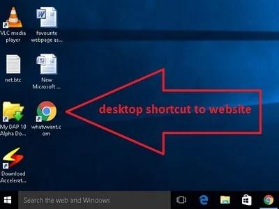 shortcut to webpage on your desktop- How to create a website shortcut on desktop