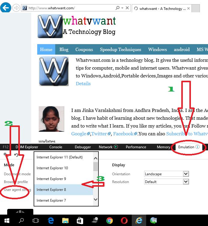 Downgrade internet explorer