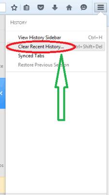 delete Mozilla Firefox history