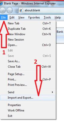 Backup internet explorer bookmarks
