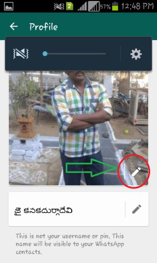 whatsapp profile